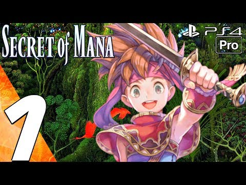 Secret of Mana Remake - Gameplay Walkthrough Part 1 - Prologue (Full Game) PS4 PRO