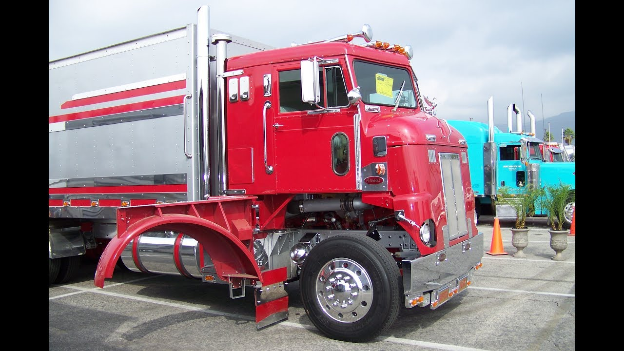 Peterbilt Day Cab For Sale >> 1955 Peterbilt 350 Cab Over Truckin' For Kids 2010 - YouTube