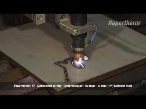 Powermax45 XP mechanized cutting 12mm stainless steel