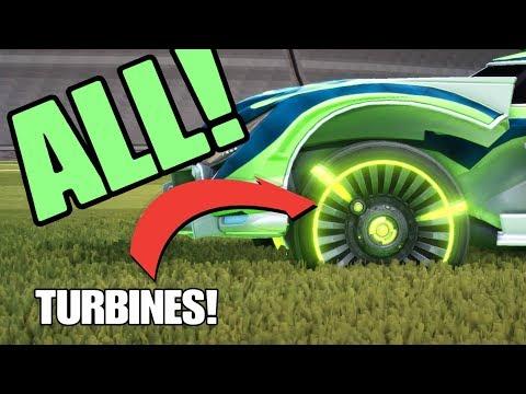 ALL PAINTED TURBINE WHEELS SHOWCASE! - Rocket League