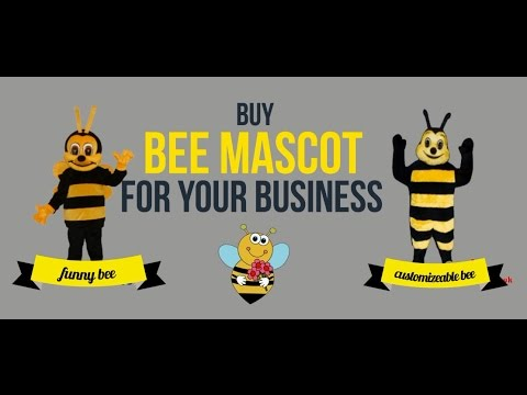 Bee Mascot Costume - Funny Honey bee Costume - Customized in UK