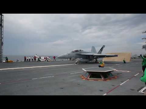 USS Gerald R. Ford's First Fixed-Wing Aircraft Launch