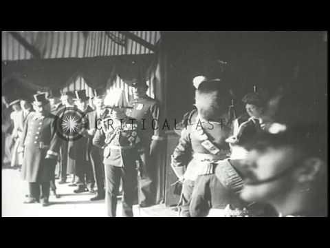 German Kaiser Wilhelm Visiting British Monarch King George V In England   HD Stock Footage