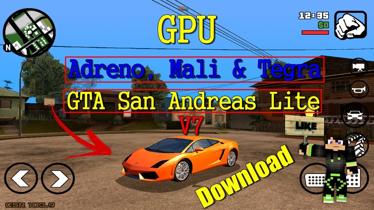 GTA SA Lite V7 GPU Adreno, Mali e Tegra - (Download)