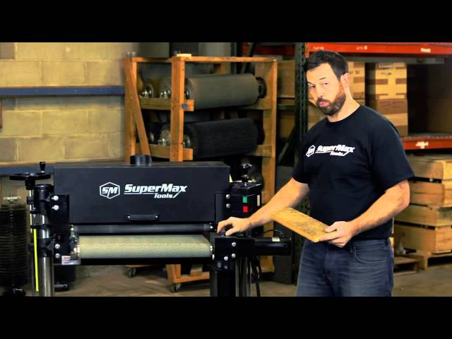 Cleaning Barnwood with the SuperBrush Sander
