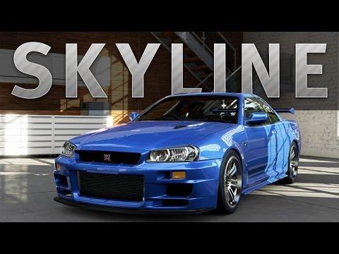 forza 5 car build skyline r34 gt r paul walker tribute