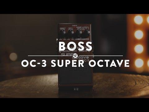 Boss OC-3 Super Octave   Reverb Demo Video