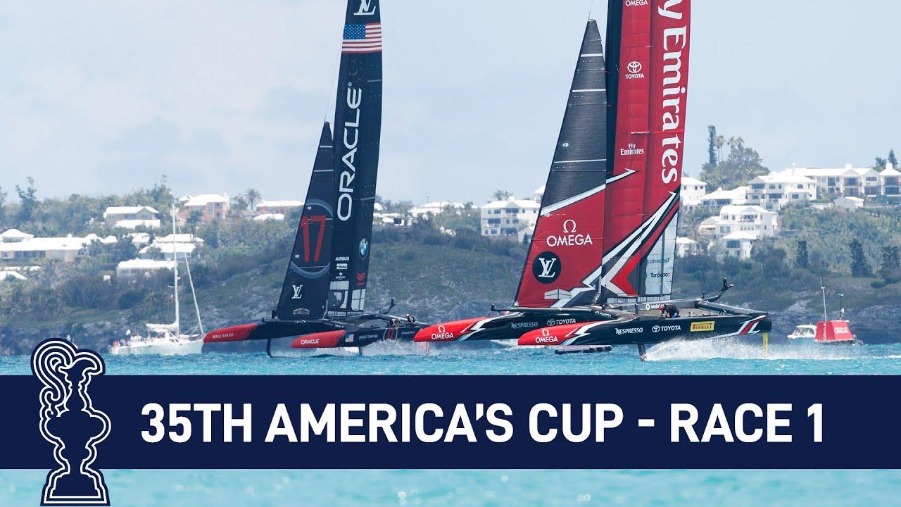 35th America's Cup Race 1 USA vs. NZL | AMERICA'S CUP