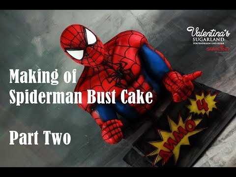 Spiderman Bust Cake Part Two