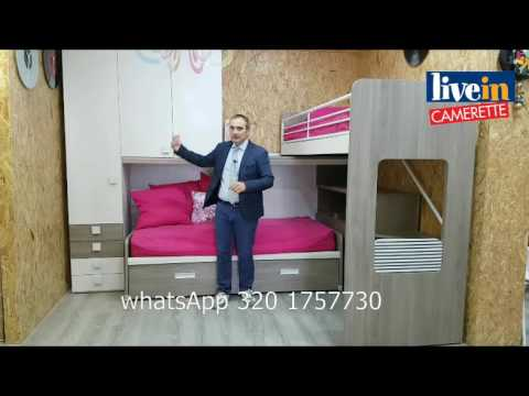Camerette per Ragazzi-Offerta Soppalco con letto superiore mobile.