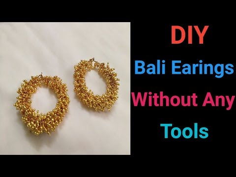 DIY Bali Earring Without Any Tools(Simple & Easy Method)