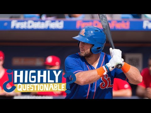 Will Tim Tebow Make It To The Major League? | Highly Questionable | ESPN