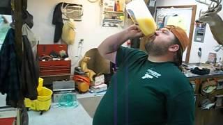 64 oz orange juice chug 1/2 gallon