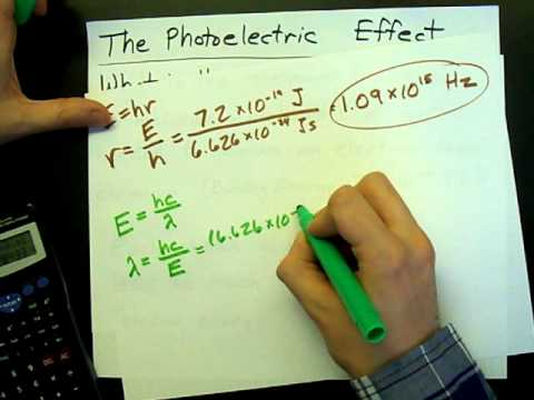 Minimum Frequency To Eject An Electron (Photoelectric Effect)