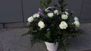 Корзина 15 роз. Доставка цветов(Цветочная компания
