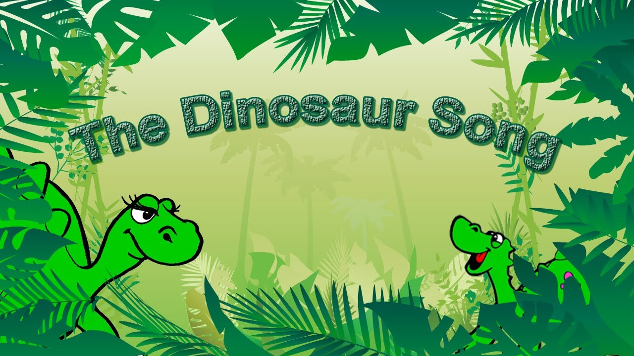 dinosaur song for kids learning english simple song and cutest