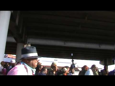 Rebirth Brass Band performing at Treme Sidewalk Steppers Second Line Parade