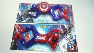 Spiderman Crawling And  Avengers Captain America Crawling With Light and Sound