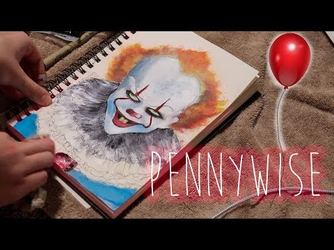 """finger painting Pennywise from """"IT"""""""