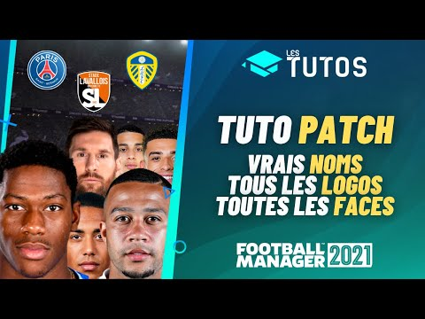 FOOTBALL MANAGER 2021 : Tuto Patch I Comment avoir tous les vrais noms, logos et faces !