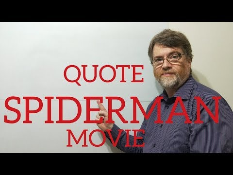 Tutor Nick P Quotes (5) Spider-man - With Great Power Comes Great Responsibility