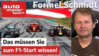 Formel Schmidt: Das müssen Sie zum F1-Start wissen! | auto motor und sport