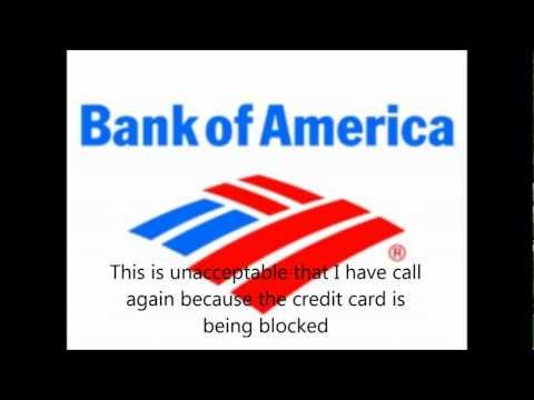 Call to Bank of America fraud department