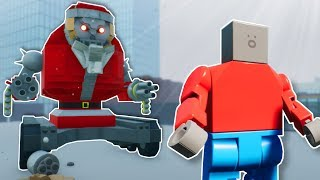 MECH SANTA SURVIVAL! - Brick Rigs Multiplayer Gameplay - Lego Survival Challenge
