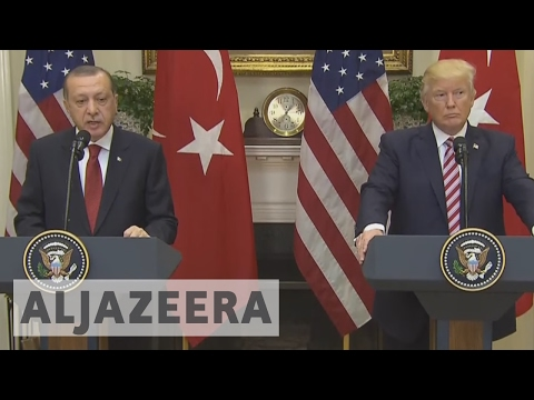 Donald Trump and Recep Tayyip Erdogan hold talks