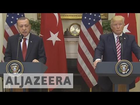 Donald Trump and Recep Tayyip Erdogan hold talks