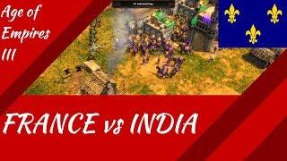 France vs India 1v1! AoE III