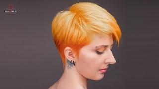 DEMETRIUS | Пикси | Женская стрижка на короткие волосы | pixie haircut