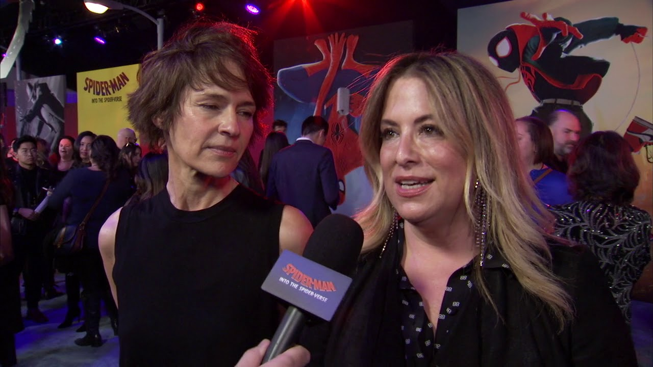 Spider-man Into The Spider Verse LA World Premiere - Itw Kristine Belson  and Christina Steinberg