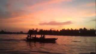 Sunrise on the mekong delta