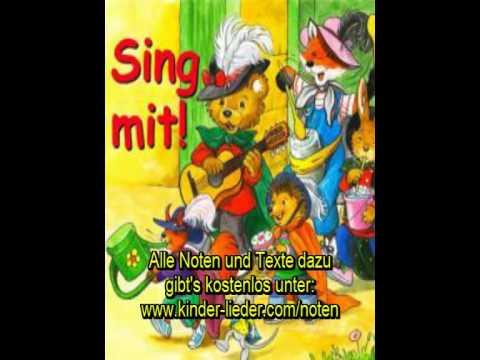 Kinderlieder in deutsch mit Noten und Text - Teil 1