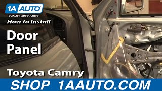 How To Install Replace Rear Door Panel Toyota Camry 92-96 1AAuto.com