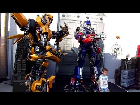 Interactive Talking Optimus Prime, Bumblebee Together HD (VERY RARE) Universal Studios Hollywood HD