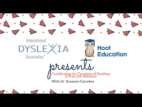 Certification for Teachers of Reading: A Free IDA Webinar