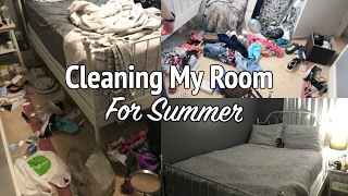 CLEANING MY ROOM FOR SUMMER!