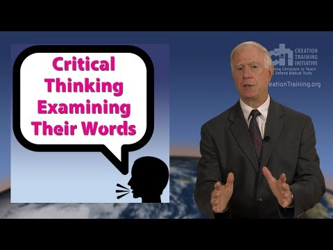 Critical Thinking Examining Their Words