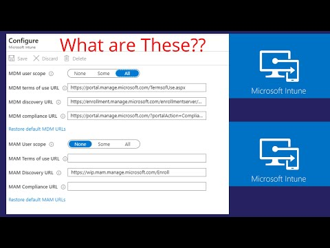 Difference between MDM User Scope and MAM User Scope, Intune, Windows 10