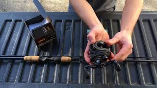 New baitcasting rod and reel setup! (fenwick & lews)