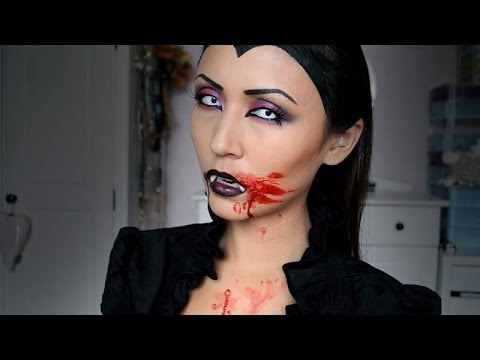 vampier halloween make up tutorial shelingbeauty youtube. Black Bedroom Furniture Sets. Home Design Ideas