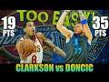 Clarkson at Doncic Nagpamalas ng Nakabibilib na mga Galaw, Luka Hindi Mapigilan | Duel Highlights