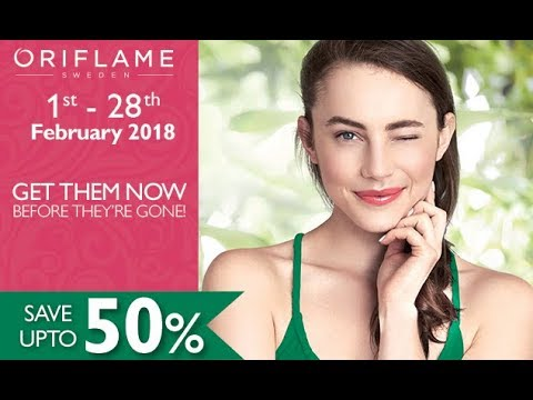 Oriflame Catalogue Flyer 2018 | Campaign 1 to 28 February 2018 | Oriflame Cosmetics
