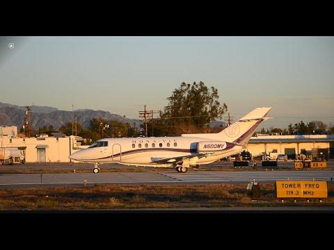 British Aerospace 125 [N600MV] Takeoff From VNY