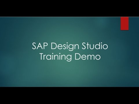 SAP Design Studio Training Demo