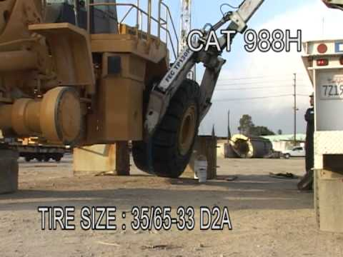 Solid Tires For A Cat 988h Loader Youtube