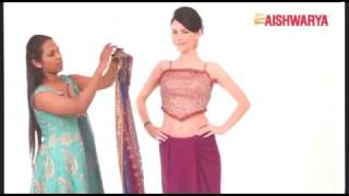 How to drape a saree in Coorgi Style