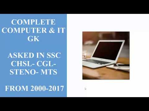 All Computer & IT Questions asked in SSC CGL CHSL Steno MTS and Banking Exams